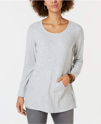 Style&Co. Style & Co Ribbed Pocket-Front Tunic