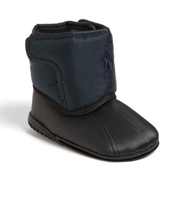 Ralph Lauren 'Alberta Big Pony' Crib Boot (Baby)