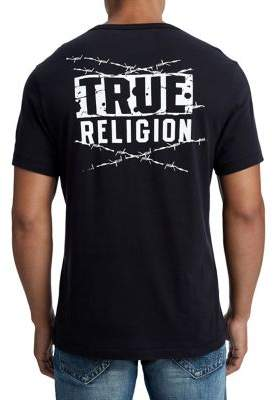 True Religion MENS BARBED WIRE GRAPHIC TEE