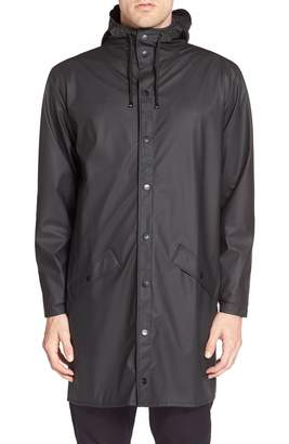 Rains Waterproof Hooded Long Rain Jacket