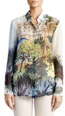 Altuzarra Silk Tuscany Print Blouse