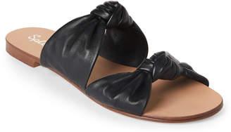 Splendid Black Barton Knotted Leather Slide Sandals