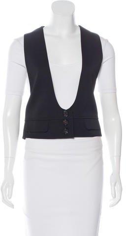 Chloé Chloé Virgin Wool Button-Up Vest