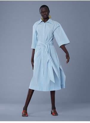 Diane von Furstenberg Sleeve Cotton Belted Shirt Dress