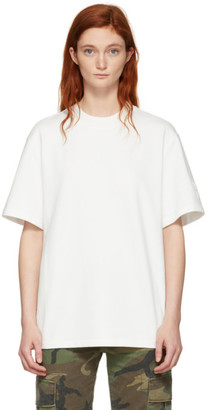 Alexander Wang Off-White Oversized Wash and Go Puff Logo T-Shirt