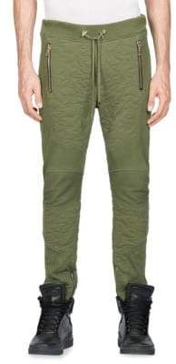 Balmain Calecon Textured Cotton Jogger Pants