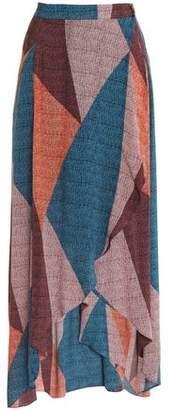 Vix Paula Hermanny Color-Block Woven Maxi Skirt