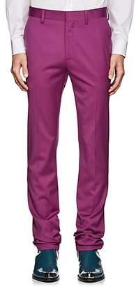 Calvin Klein Men's Wool Slim Trousers - Purple