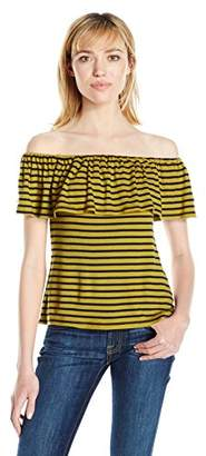 Splendid Women's 1x1 Venice Stripe Off The Shoulder