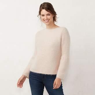 Lauren Conrad Women's Fuzzy Bell Sleeve Sweater