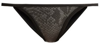 Dos Gardenias - Dreamweaver Neoprene Bikini Briefs - Womens - Grey Multi