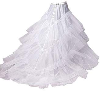 WHZZ Women's A-line Wedding Dress Petticoat Slips Bridal Long Train Crinoline Underskirt