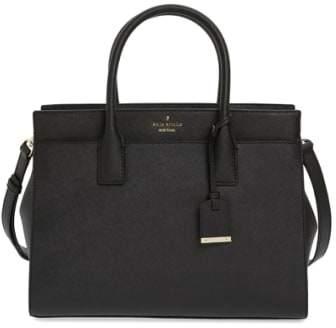Kate Spade New York Cameron Street - Candace Leather Satchel - Black