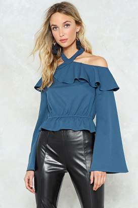 Nasty Gal Sleeve a Message Cold Shoulder Crop Top