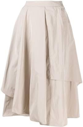 Peserico asymmetric midi skirt