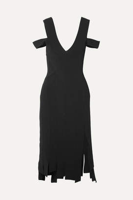 Altuzarra Tiziana Cold-shoulder Stretch-knit Dress - Black