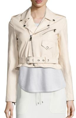 Polo Ralph Lauren Cropped Leather Moto Jacket $798 thestylecure.com