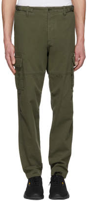 Valentino Green Washed Cargo Pants