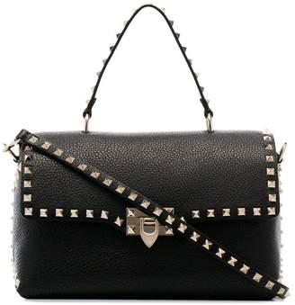 Valentino black Rockstud studded leather shoulder bag