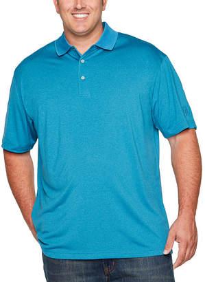 PGA Tour TOUR Short Sleeve Pro Series Solid Heather Polo- Big & Tall