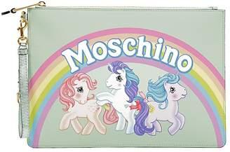Moschino Medium Little Pony Printed Pouch
