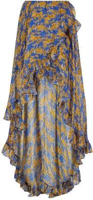 Caroline Constas Adelle Asymmetric Floral Skirt