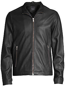 Theory Men's Morvek Lkelleher Leather Moto Jacket