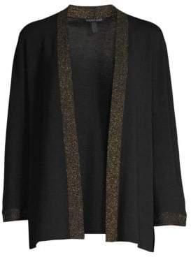 Eileen Fisher Trimmed Wool Cardigan
