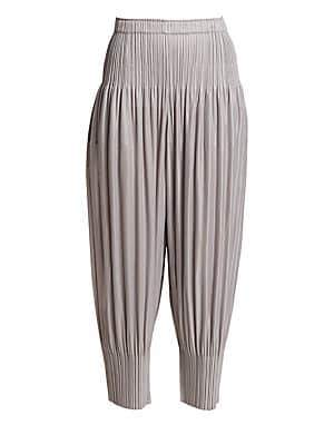 Pleats Please Issey Miyake Women's Fluffy Basics Harem Pants