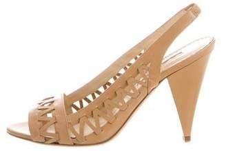 Oscar de la Renta Cutout Slingback Sandals
