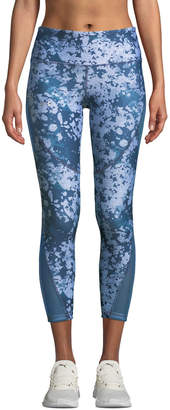 Under Armour HeatGear Printed Cropped Performance Leggings