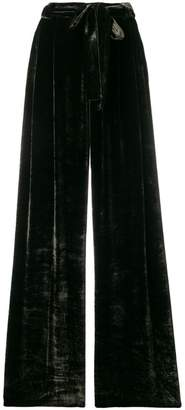 Roberto Collina belted wide leg trousers