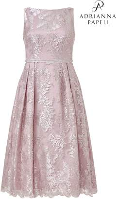 Next Womens Adrianna Papell Pink Tea Embroidered Dress