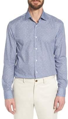 BOSS Jenno Slim Fit Floral Print Dress Shirt