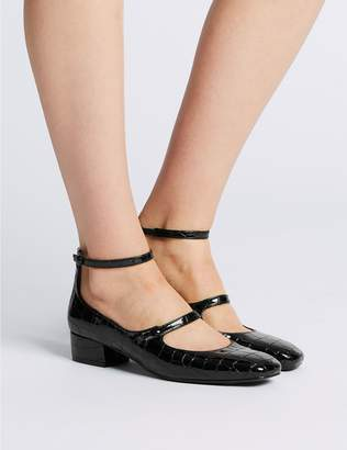 Marks and Spencer Block Heels Ankle Strap Court Shoes