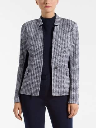 St. John Contrast Geometric Knit Jacket