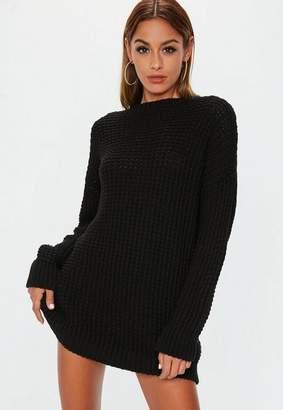 Missguided Black Chunky Knit Dress
