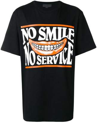 Stella McCartney No Smile No Service print T-shirt