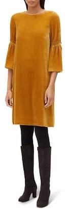 Lafayette 148 New York Roslin Velvet Bell-Sleeve Dress