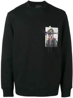Diesel Black Gold dripping soldier print sweatshirt