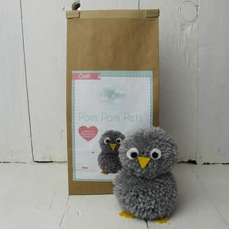 Hurley Sarah Pom Pom Pets Craft Kit Grey Owl