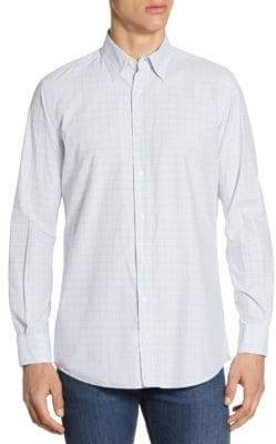 Luciano Barbera Windowpane Cotton Sportshirt