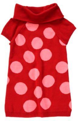 Crazy 8 Dot Cowl Neck Sweater Dress