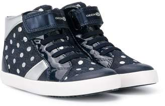 Geox Kids polka dot print sneakers