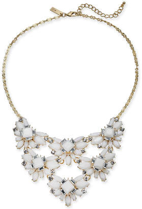 "INC International Concepts I.n.c Gold-Tone Stone & Crystal Cluster Statement Necklace, 18"" + 3"" extender, Created for Macy's"