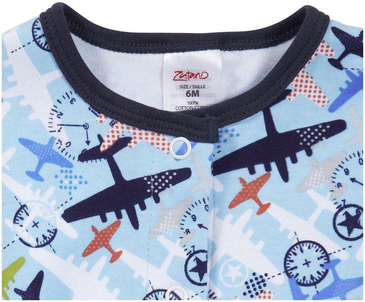 Zutano Aviation Footie - Bluebird-6 Months