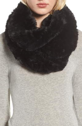 Love Token Faux Fur Infinity Scarf