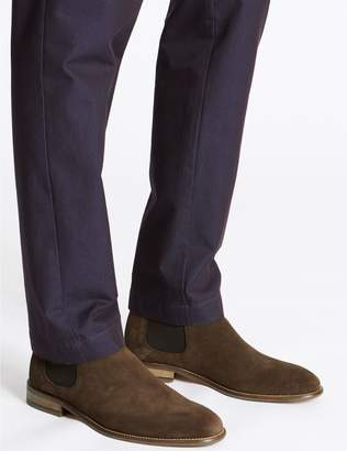 Marks and Spencer Extra Wide Fit Suede Chelsea Boots