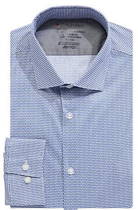 Calvin Klein Printed Extreme Slim Fit Cotton-Blend Dress Shirt