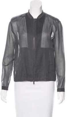 Brunello Cucinelli Monili-Trimmed Lightweight Jacket